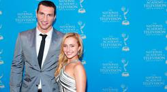 Boxer Wladimir Klitschko and actress/model Hayden Panettiere attend the 34th Annual Sports Emmy Awards Reception at Frederick P. Rose Hall, Jazz at Lincoln Center on May 7, 2013 in New York City. (Photo by Jemal Countess/Getty Images)