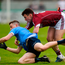 Dessie Conneely of Galway in action against Darren Byrne of Dublin