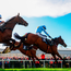 Un De Sceaux, with Ruby Walsh in the saddle, jumps the last ahead of eventual winner Fox Norton and God's Own during the BoyleSport Champion Steeplechase at Punchestown.. Photo: Cody Glenn/Sportsfile