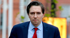 Lack of experience: Minister for Health Simon Harris arriving at Government Buildings Photo: Tom Burke