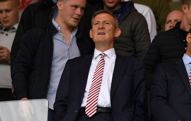 Sunderland owner Ellis Short looks on before the Premier League match between Sunderland and Middlesbrough at Stadium of Light on August 21, 2016 in Sunderland, England. (Photo by Stu Forster/Getty Images )