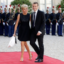 First couple?: Brigitte Trogneux and Emmanuel Macron at a function in the Elysee in 2015 Photo: REUTERS/Philippe Wojazer/File Photo