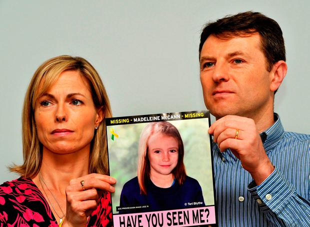 Her parents Kate and Gerry make an appeal for help Photo: John Stillwell/PA Wire