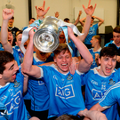 Dublin players celebrate winning the EirGrid All-Ireland under 21 final. Photo: Cody Glenn/Sportsfile