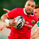 Simon Zebo breaks the line against Treviso. Photo: Sportsfile