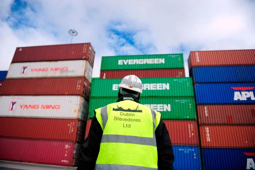 Worryingly, exports from Ireland are still hugely focused on the nearby British market Photo: Aidan Crawley/Bloomberg