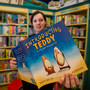 Gentle story about gender: Aoife Harrison pictured with 'Introducing Teddy' at Dubray Books. Photo: Mark Condren