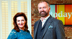 Maura Derrane with TV co-host Daithi O Se