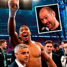 Anthony Joshua and (inset) Tyson Fury