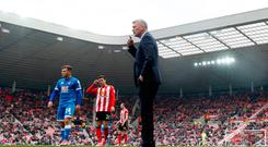 Sunderland manager David Moyes, Sunderland's Javi Manquillo and Bournemouth's Ryan Fraser