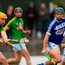 Laois goalkeeper Enda Rowland saves a shot from Neil Heffernan of Meath