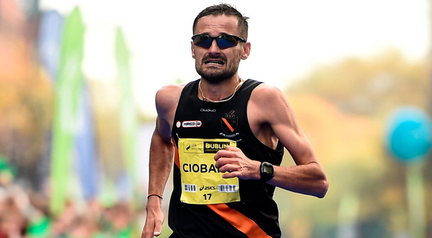 Ciobanu won the National Marathon last October, but failed to meet the qualification standard for the World Championships. Photo by Stephen McCarthy/Sportsfile