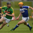 Meath's Kevin Keena in action against Charles Dwyer of Laois during the Leinster GAA Hurling Senior Championship Qualifier Group Round 2 match. Photo: Ray McManus/Sportsfile