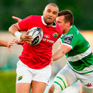 Simon Zebo bursts through the Treviso defence on Saturday. Photo by Roberto Bregani/Sportsfile