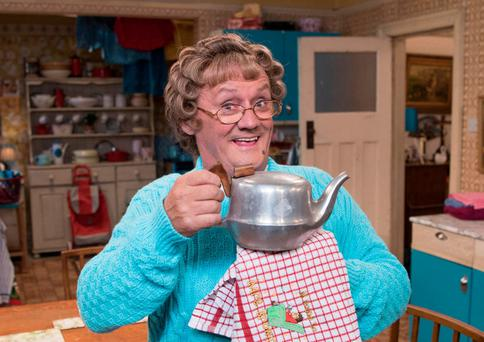 Thrilled by reception: Brendan O'Carroll as Mrs Brown. Photo: Graeme Hunter