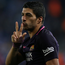 Barcelona's Luis Suarez celebrates his second goal during the match against Espanyol. Photo: Albert Gea/Reuters