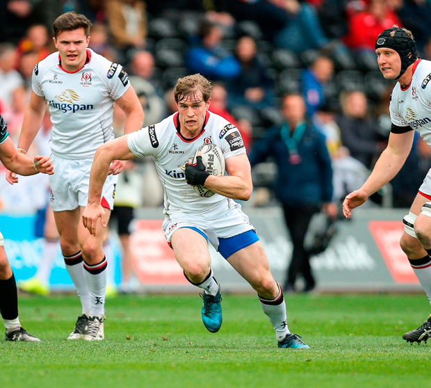 Andrew Trimble of Ulster in action. Photo by Gareth Everett/Sportsfile