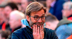 Liverpool manager Jurgen Klopp. Photo: Peter Byrne/PA
