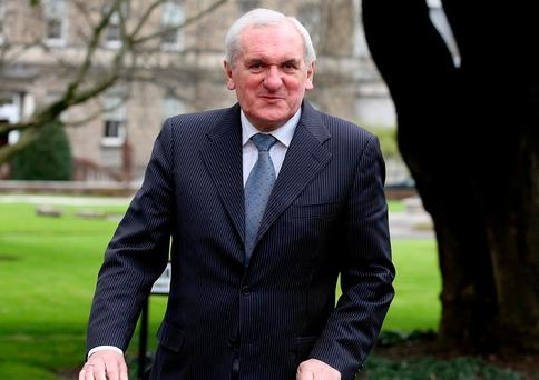 Former Taoiseach Bertie Ahern. Photo: Tom Burke