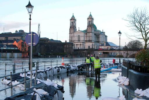While some €430m has been allocated for flood defences between 2016 and 2021, almost the entire budget is taken up by the 14 biggest schemes. Photo: Kyran O'Brien