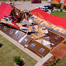 An event hall in Canton, Texas, suffered major tornado damage Photo: REUTERS/Brandon Wade