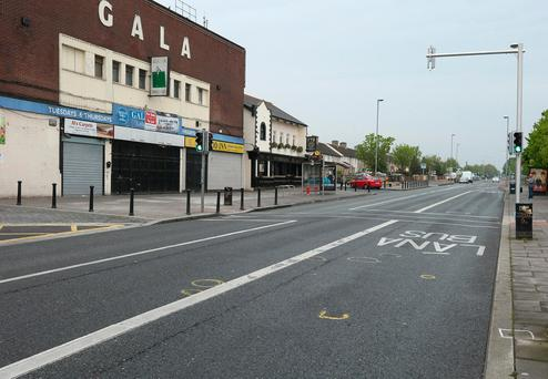 Ballyfermot Road where an elderly man was struck by a car last night. Picture credit; Damien Eagers