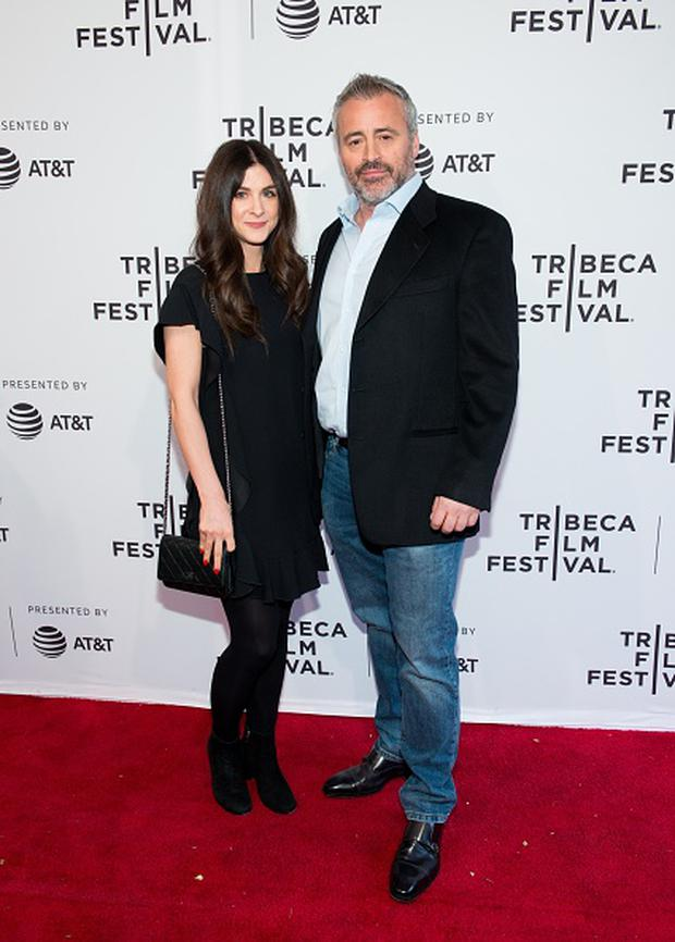 (L-R) Aurora Mulligan and Matt LeBlanc attend Tribeca TV: