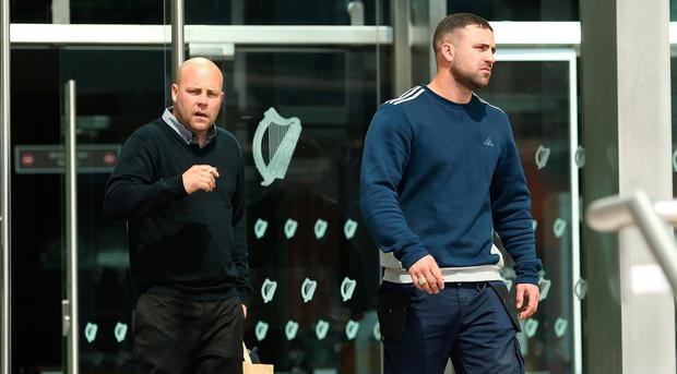 Jason, left, and Darren O'Donoghue who were charged with the handling of stolen property at the district court in Dublin. Picture credit: INM
