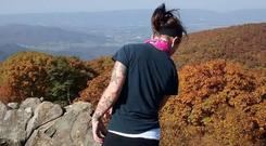Adrienne Gonzalez pictured at the Blue Ridge Mountains in Shenandoah National Park