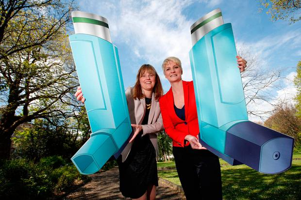Marking World Asthma Day were Susan O'Dwyer, healthcare development manager with Boots Ireland, and CEO of the Asthma Society of Ireland, Averil Power.