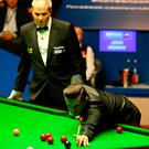 Mark Selby on day seventeen of the Betfred Snooker World Championships at the Crucible