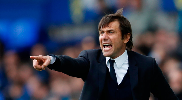 "'""Quasi-military"" is how World Soccer describes the Conte training regime in a profile of the manager this month.' Photo: Reuters"