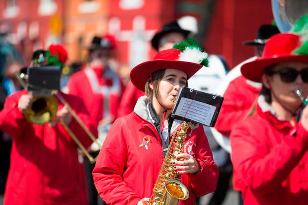 Performers at the Ringsend and Irishtown Community Centre May Day Parade. Photo: Mark Condren