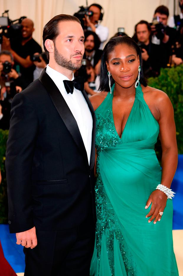 Alexis Ohanian and Serena Williams attend the