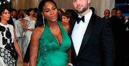 Serena Williams and Alexis Ohanian attend the