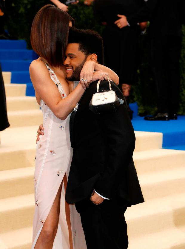 The Weeknd and Selena Gomez at the Metropolitan Museum of Art Costume Institute Gala. Picture: REUTERS/Brendan Mcdermid