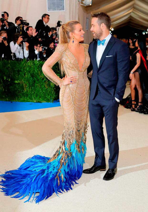 Blake Lively (L) and Ryan Reynolds attend the