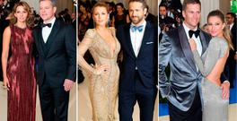 (L to R) Matt Damon and Luciana Barroso, Blake Lively and Ryan Reynolds and Tom Brady and Gisele Bundchen