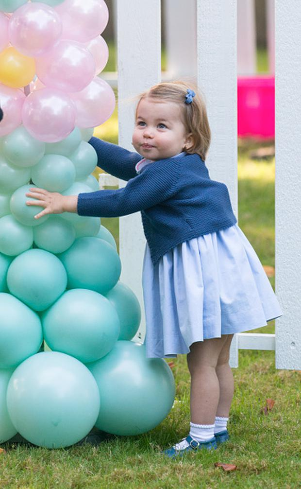 Princess Charlotte of Cambridge attends a children's party for Military families during the Royal Tour of Canada on September 29, 2016 in Victoria, Canada. (Photo by Pool/Sam Hussein/WireImage)