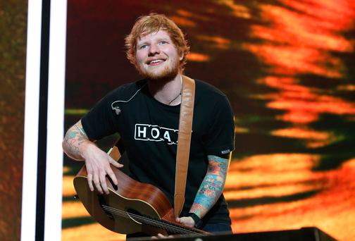 Ed Sheeran posed for the artist for three hours Photo: Damien Eagers