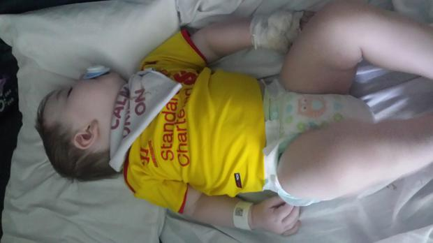 Baby Joshua has now made a full recovery. Picture courtesy of Orlane Powell