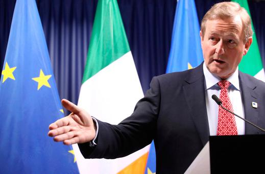 Taoiseach Enda Kenny said it was 'by no means a given that Ireland's position would be seen as a priority for the negotiations'. Photo: AP