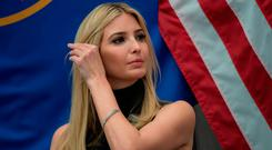 Ivanka Trump, daughter and adviser of US President Donald Trump, speaks at National Small Business Week event in Washington, DC, on May 1, 2017. / AFP PHOTO / NICHOLAS KAMMNICHOLAS KAMM/AFP/Getty Images