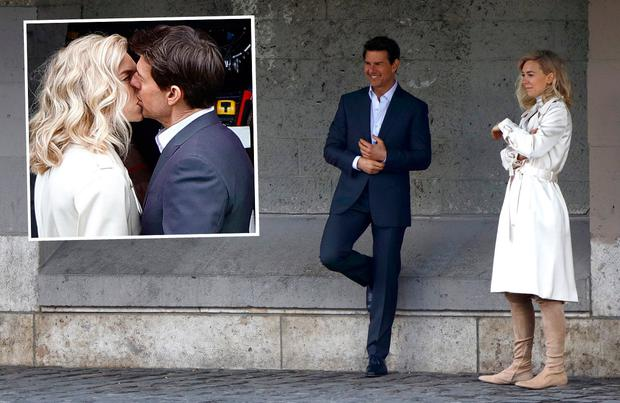 Tom Cruise and Vanessa Kirby on set of Mission Impossible 6