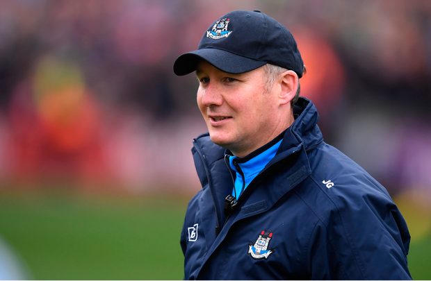 9 April 2017; Dublin manager Jim Gavin following the Allianz Football League Division 1 Final match between Dublin and Kerry at Croke Park in Dublin. Photo by Stephen McCarthy/Sportsfile