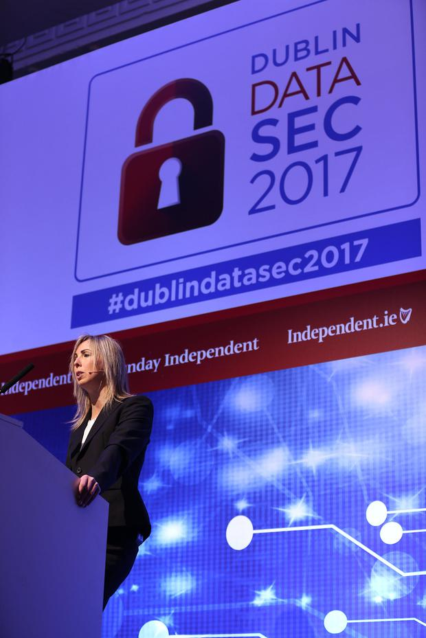 Data Protection Commissioner, Helen Dixon at Dublin Data Sec 2017. Photo: Gerry Mooney