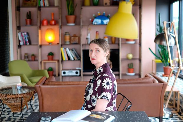 Passion project: Designer Orla Kiely at the London apartment that she recently decorated