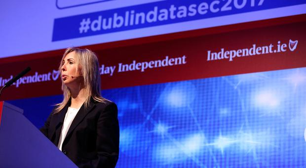 Dublin Data Sec 2017. Helen Dixon, Data Protection Commissioner. Photo: Gerry Mooney