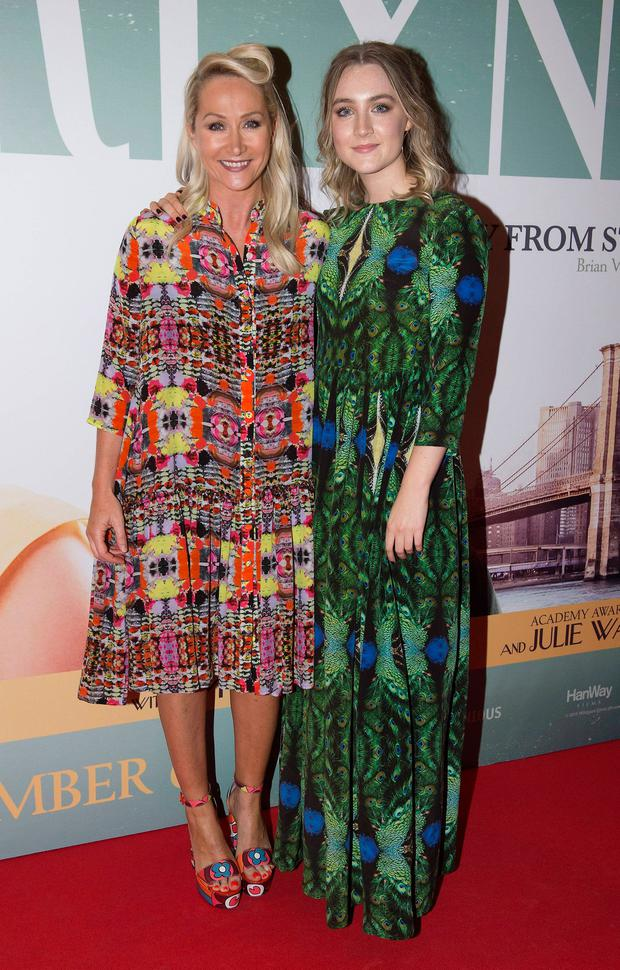 Helen Steele and Saoirse Ronan at the Irish Premiere of Brooklyn in 2015