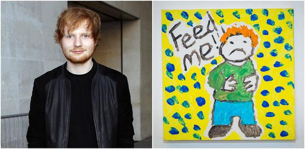 Ed Sheeran has painted a self-portrait for charity